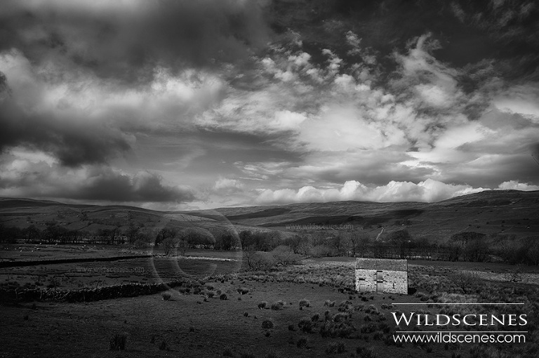 stone barn in Raydale, Yorkshire Dales