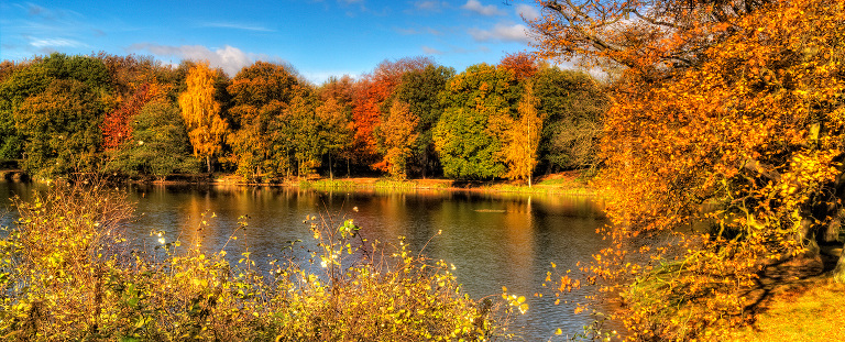 Nostell Priory in autumn