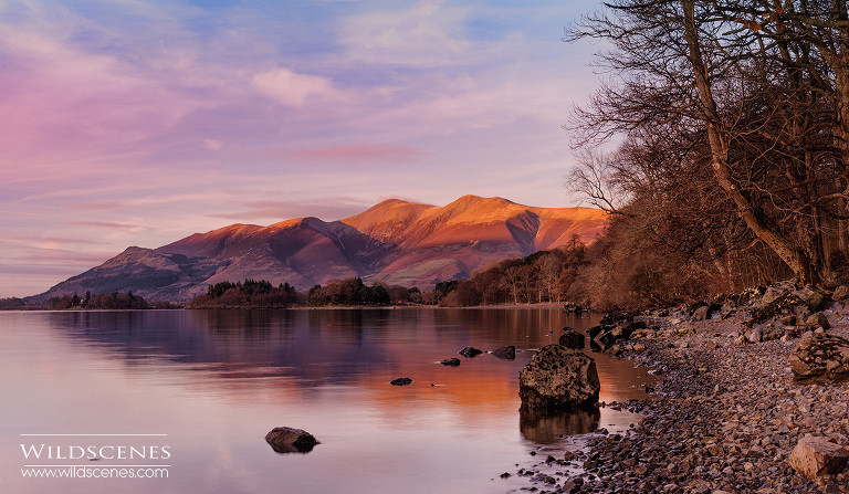 landscape photography Lake District Skiddaw at sunset